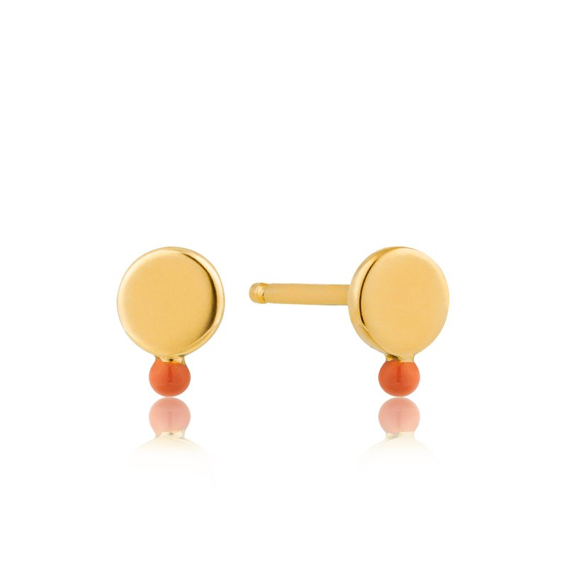 Ania Haie Dotted Disc Stud Earrings