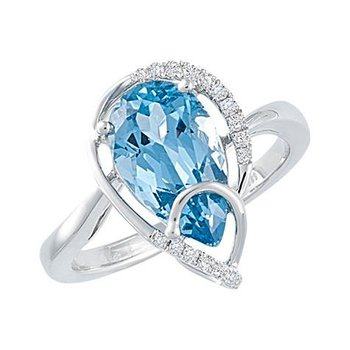 Aqua Blue Spinel Ring-CR10007WAQ