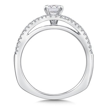 Diamond Engagement Ring Mounting in 14K White Gold (.25 ct. tw.)