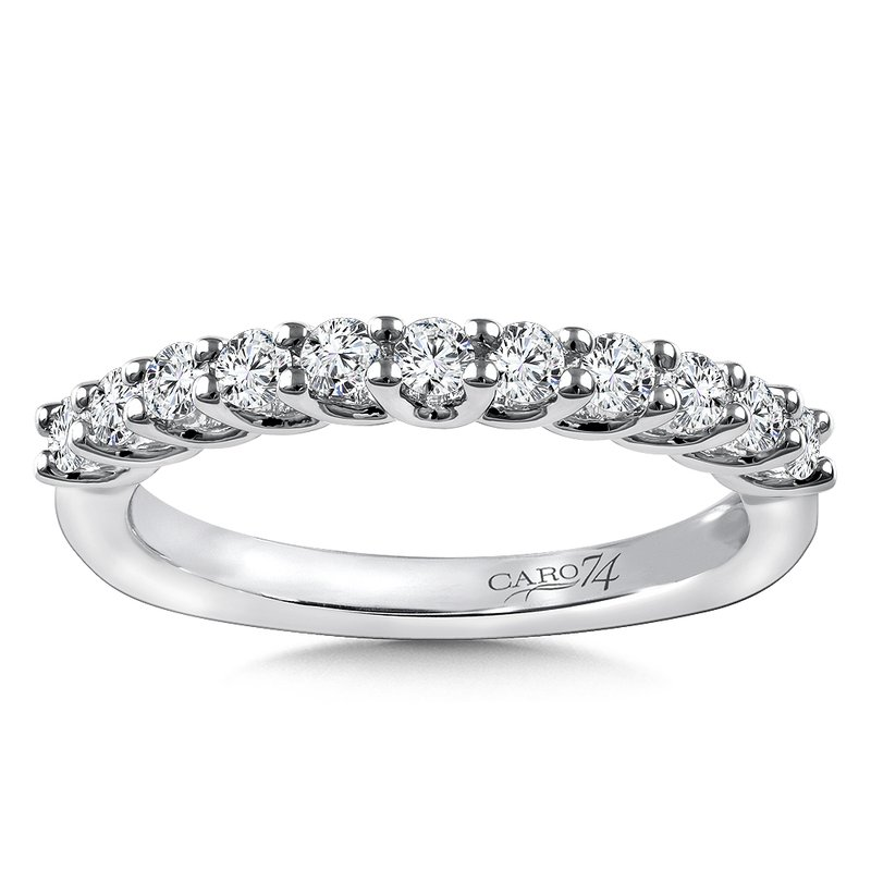 Caro74 Stackable Wedding Band in 14K White Gold (.42 ct. tw.)