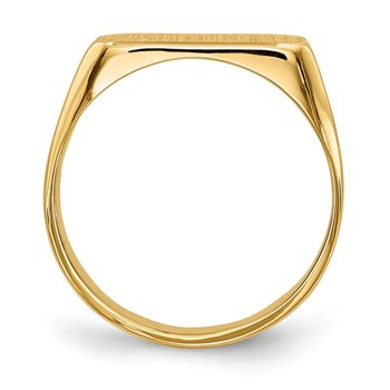 14k 5.5x13.5mm Closed Back Signet Ring