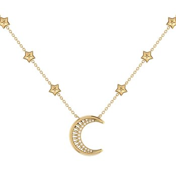 Starry Lane Necklace in 14 KT Yellow Gold Vermeil on Sterling Silver