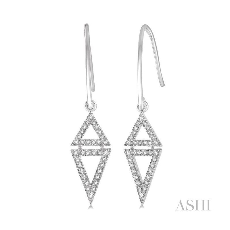 ASHI triangle diamond earrings