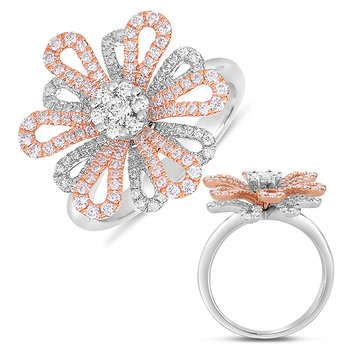 Rose & White Gold Fashion Diamond Ring