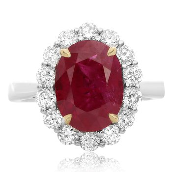 Natural Ruby & Diamond Ring
