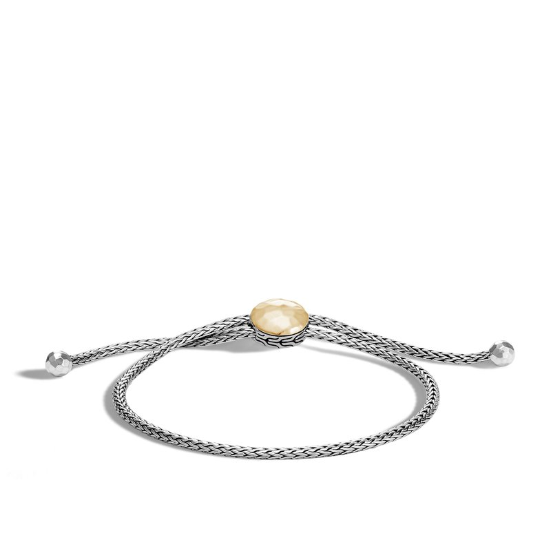 JOHN HARDY Classic Chain Pull Through Bracelet, Silver, Hammered Gold