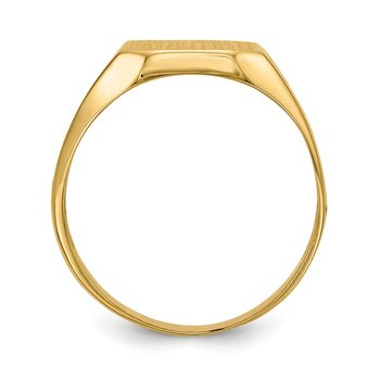 14k 9.0x10.5mm Open Back Men's Signet Ring