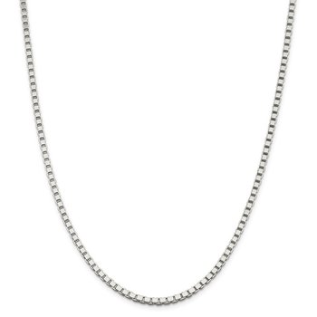 Sterling Silver 3mm Box Chain