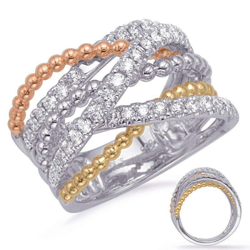 S. Kashi  & Sons Rose & Yellow & White Gold Diamond Fashi