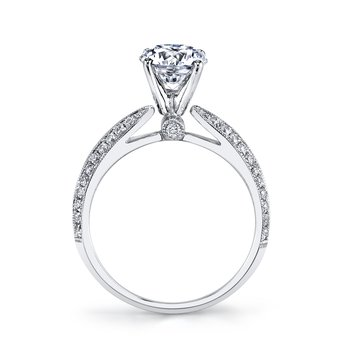 MARS 25917 Diamond Engagement Ring 0.33 Ctw.
