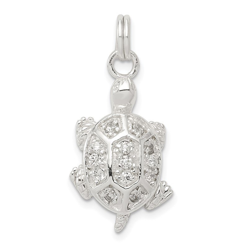 Fine Jewelry by JBD Sterling Silver Turtle Charm