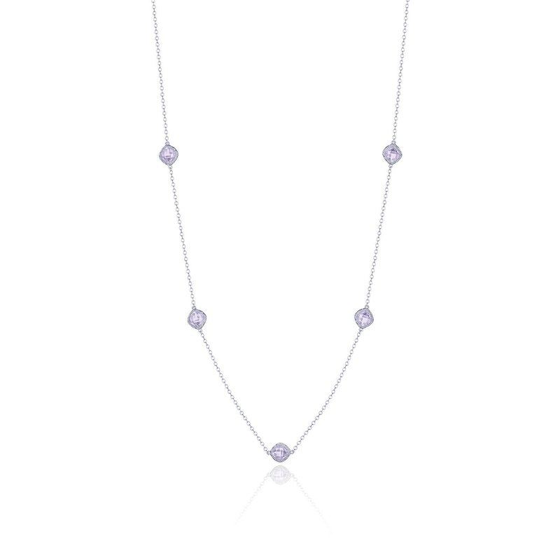 Tacori Fashion 5-station necklace with Rose Amethyst