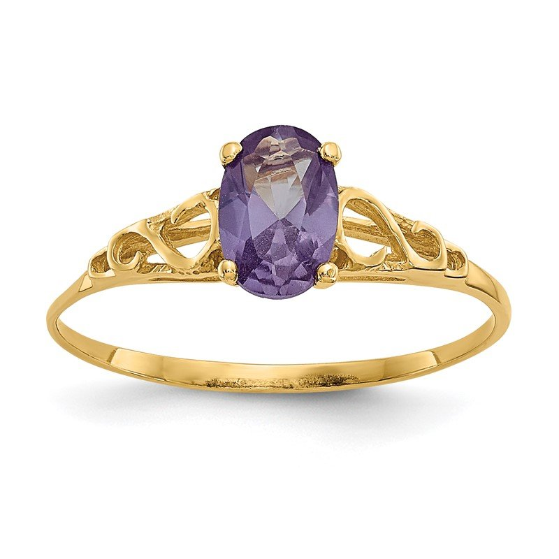 Quality Gold 14k Madi K Synthetic Alexandrite Ring