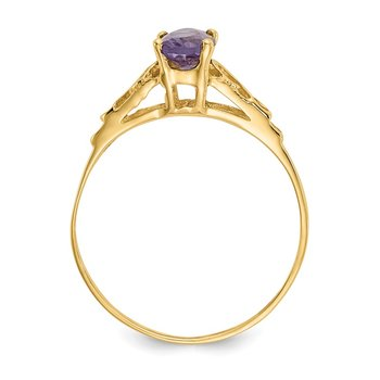 14k Madi K Synthetic Alexandrite Ring