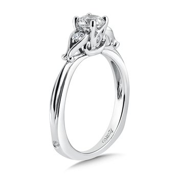 3 Stone Engagement Ring in 14K White Gold with Platinum Head (1/2ct. tw.)