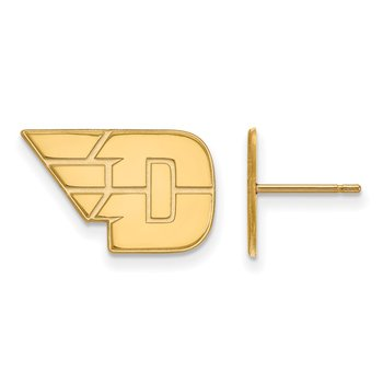 Gold University of Dayton NCAA Earrings