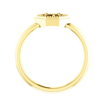 18K Yellow 4 mm Round Geometric Ring Mounting