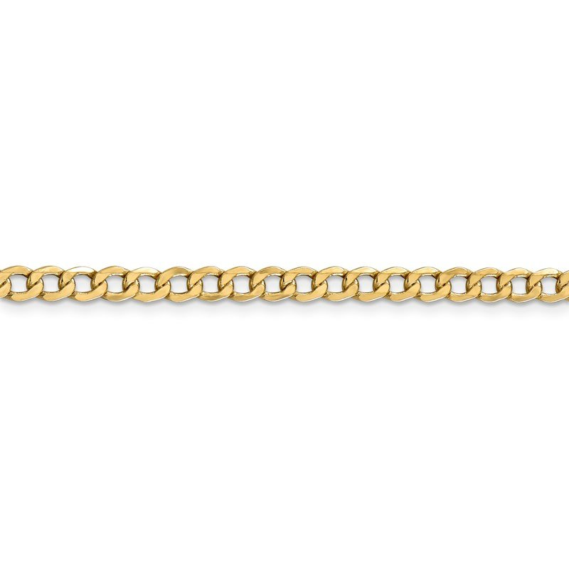 Leslie's Leslie's 14K 4.3mm Semi-Solid Curb Link Chain