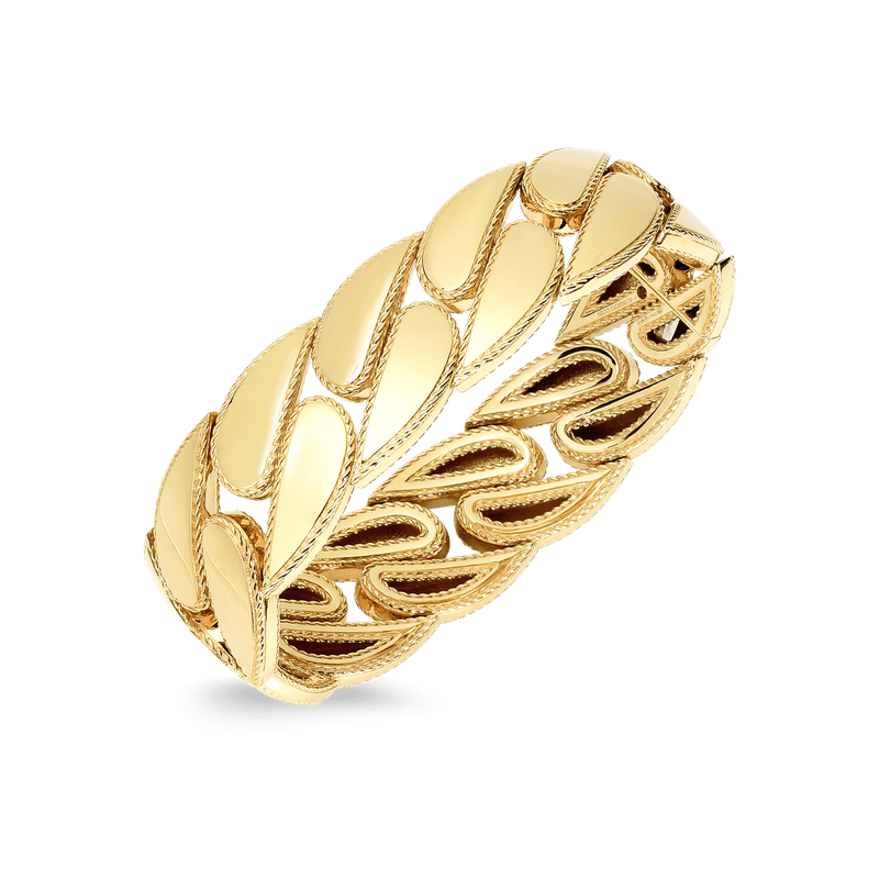 Roberto Coin 18Kt Gold Gourmette Link Bangle