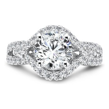 Grand Opulance Collection Diamond Criss Cross Engagement Ring in 14K White Gold with Platinum Head (2ct. tw.)