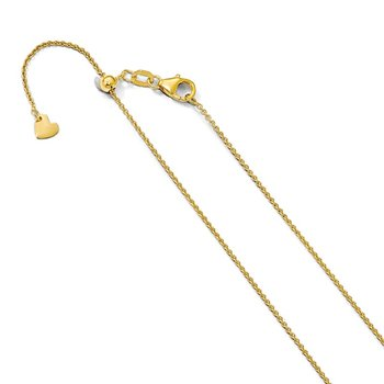 Leslie's 14K Adjustable 1.1mm Round Cable Chain