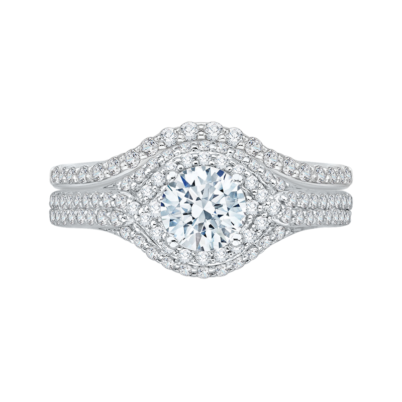 Promezza Round Diamond Engagement Ring In 14K White Gold