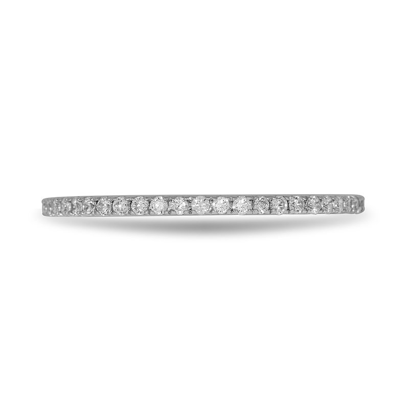 BB Impex 14K WG and diamond Eternity ring in channel setting 0.35 Cts