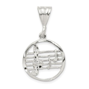 Sterling Silver Music Staff Charm