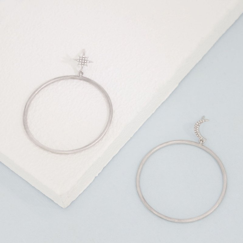Ella Stein Pie In The Sky Sterling Silver Star Hoop Earrings