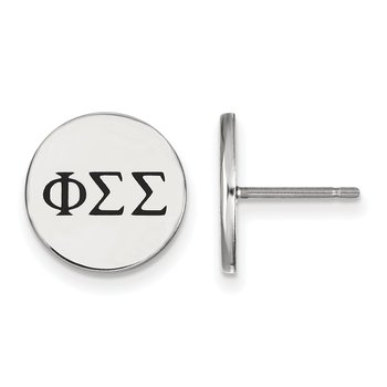 Sterling Silver Phi Sigma Sigma Greek Life Earrings