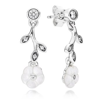 Luminous Florals, Mother-Of-Pearl Clear Cz