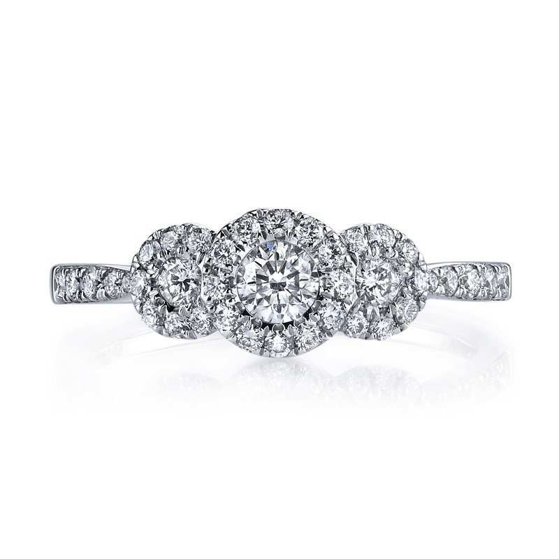 MARS Jewelry MARS 26105 Diamond Engagement Ring, 0.54 Ctw.