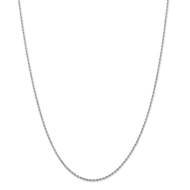 Leslie's Leslie's 14K White Gold 1.5mm Diamond-Cut Rope Chain Anklet