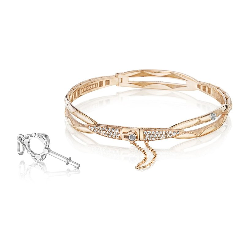 Tacori Fashion Promise Bracelet Round, Rose Gold with Pavé Diamonds