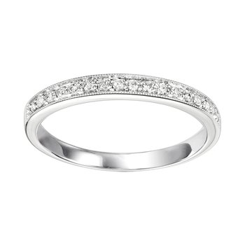 Diamond ¼ Eternity Slim Stackable Band in 14k White Gold