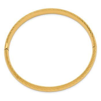 14k 5/16 Textured Hinged Bangle