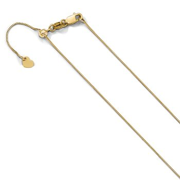 Leslie's 10K Adjustable .7mm Baby Box Chain