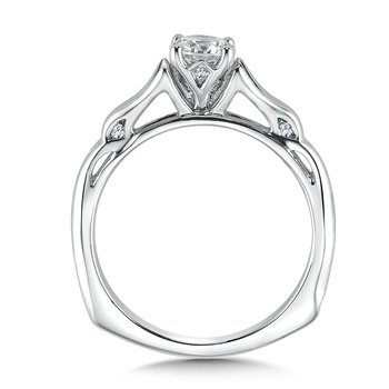 Solitaire mounting .08 tw., 5/8 ct. round center.