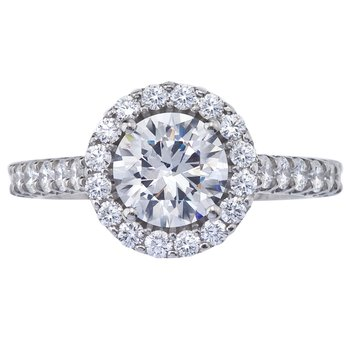 Royal Prong Halo Style Diamond Engagement Ring
