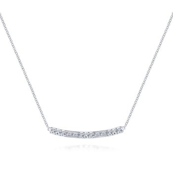 14K W.Gold Diamond Necklace