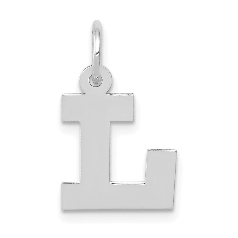 Quality Gold 14KW Small Block Letter L Initial Charm