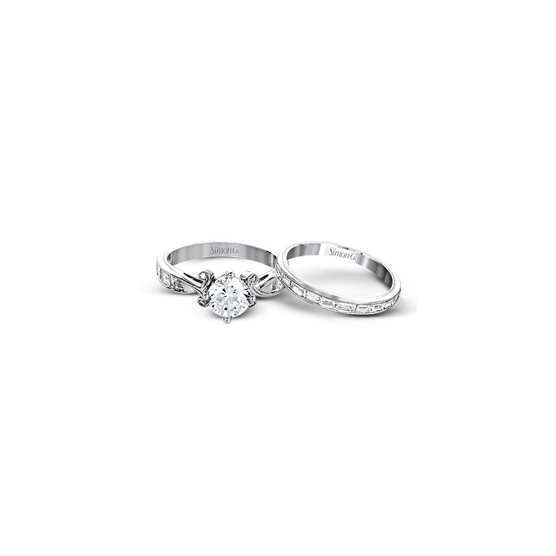 Simon G TR595 WEDDING SET