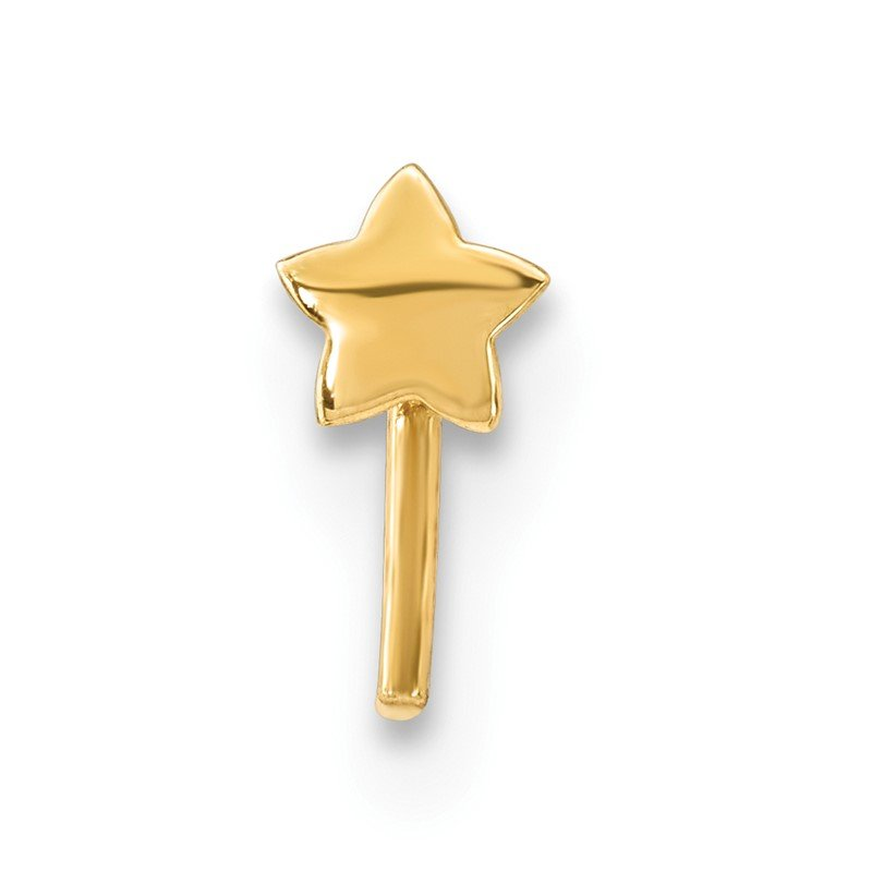 Quality Gold 14k Star Nose Stud
