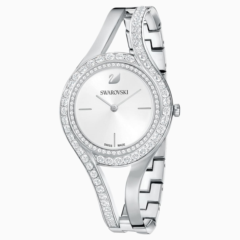 Swarovski Eternal Watch, Metal bracelet, White, Stainless steel