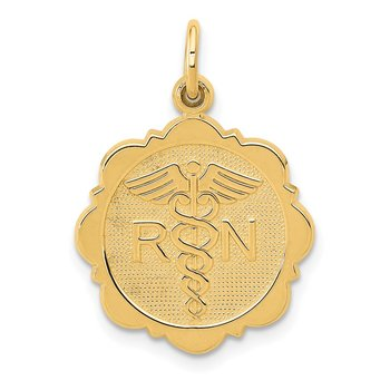 14k RN Registered Nurse Disc Charm