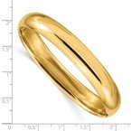 Quality Gold 14k 7/16 High Polished Hinged Bangle Bracelet