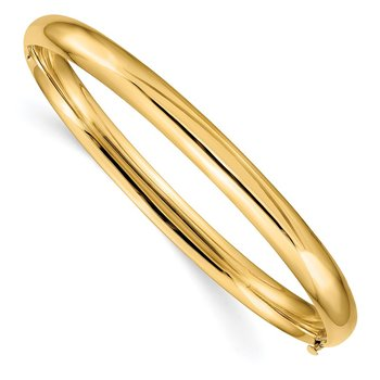 14k 4/16 Oversize High Polished Hinged Bangle Bracelet