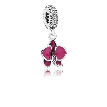 Orchid, Cz Radiant Orchid-Colored Enamel