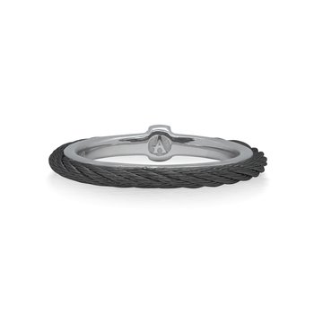 Black Cable Stack Ring