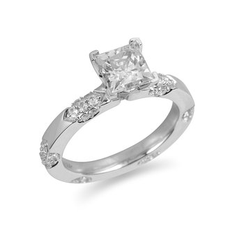 18K WG Diamond Engagement Ring for Mounting